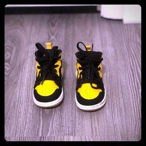 Black and Yellow Toddler Jordan 1s